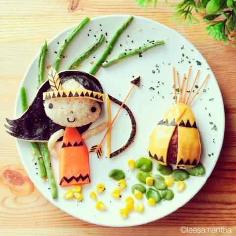 Adorabili piatti artisticamente stuzzicanti