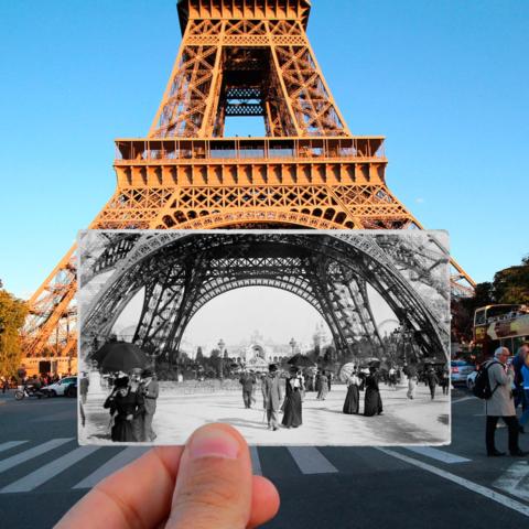 Parigi oggi nelle fotografie di ieri